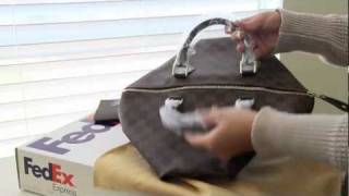 getlinkyoutube.com-Louis Vuitton Speedy 35 Damier Ebene Repaired