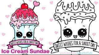 getlinkyoutube.com-How to Draw an Ice Cream Sundae Float Cute step by step Sweet Dessert