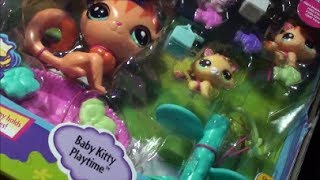 getlinkyoutube.com-NEW LPS BABY KITTY PLAYTIME littlest pet shop MAGIC MOTION EARLY CHRISTMAS PRESENT