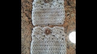 getlinkyoutube.com-Crochet easy beautiful boot cuffs DIY tutorial