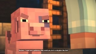 getlinkyoutube.com-Minecraft: STORY MODE - Episode 1 Walkthrough Part 3 - ANGRY PIG!