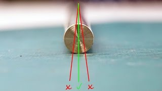 getlinkyoutube.com-How to drill a hole through a round bar in perfect center [middle]