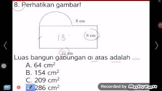 getlinkyoutube.com-Luas 6 F Gabungan Lingkaran Persegi Matematika SD SMP SMA