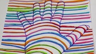 getlinkyoutube.com-Cómo dibujar una mano en 3D. Ilusión óptica