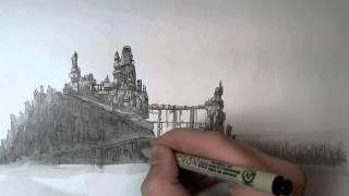getlinkyoutube.com-Landscape Drawing #1 (30x speed)