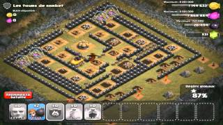 getlinkyoutube.com-CLASH OF CLANS  - Dernier village solo 100% + Belle attaque