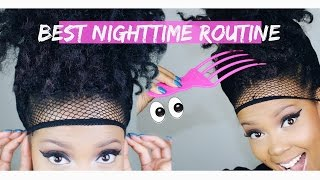 getlinkyoutube.com-START 2 FINISH | BEST CROCHET BRAID NIGHTTIME ROUTINE (HAVANA MAMBO TWISTS) | TASTEPINK