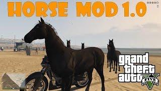 getlinkyoutube.com-Horse Mod 1.0 - Лошадь в GTA 5 ( установка и обзор )
