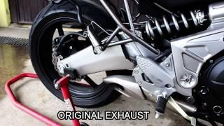 getlinkyoutube.com-KAWASAKI Versys 650 Original Exhaust vs Mivv X-Con