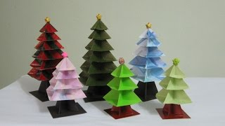 getlinkyoutube.com-TUTORIAL -  Origami Christmas Tree (Re-make)