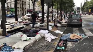 getlinkyoutube.com-Migrants Occupy Paris, France - Europe Under Siege In Global Migrant Crisis