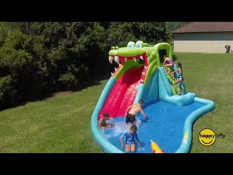 Crocodile Inflatable Double Water Slide Fun Park - Order now for Christmas Delivery