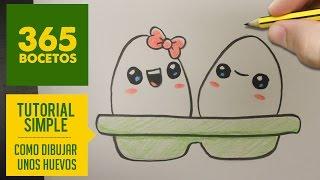 getlinkyoutube.com-COMO DIBUJAR UNOS HUEVOS KAWAII PASO A PASO - Dibujos kawaii faciles - How to draw a eggs