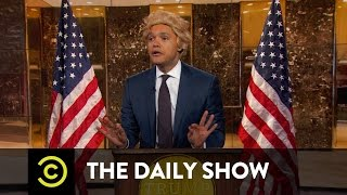 flushyoutube.com-The Daily Show - President-Elect Trump Takes On the Crooked Media