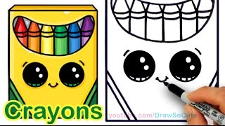 getlinkyoutube.com-How to Draw a Crayon Box Cute and Easy step by step