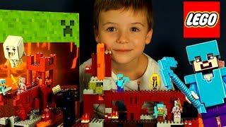 getlinkyoutube.com-Лего Майнкрафт 2015, 21122 + Мультики. Видео на русском языке. Lego Minecraft
