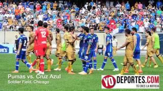 Pumas y Cruz Azul acaba en bronca Bronca en Chicago