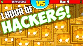 BEATING A HACKER? 1 HOUR SPECIAL of Playing Against Hackers! (Bloons TD Battles E95)