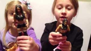 getlinkyoutube.com-The Little Grimmette Show: WWE Divas figures! Smashing Transformers! General insanity!