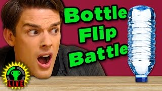 GTLive: The Ultimate BOTTLE FLIP Challenge! | So Wet and Sticky