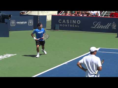 Roger Federer Practice Session Rogers Cup 2011 Part 2