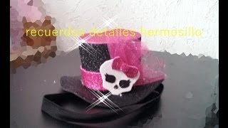 getlinkyoutube.com-DIY Como Hacer Sombrerito de Monster High para tus niñas