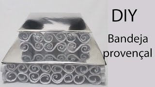 getlinkyoutube.com-Como fazer bandeja provençal de papel e papelão