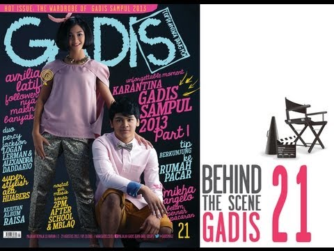 Behind The Scene - Mikha Angelo and Avrillia Latif for GADISmagz 21/2013