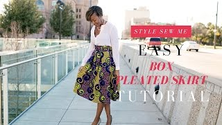 getlinkyoutube.com-Easy Box Pleated Skirt Tutorial   No Math Needed