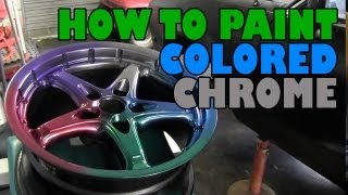 getlinkyoutube.com-How to paint colored chrome and get an anodized finish