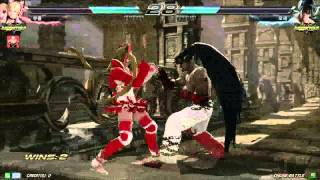 getlinkyoutube.com-Tekken7 Lucky Chloe(Knee) vs Deviljin(Dejavu) korea online battle