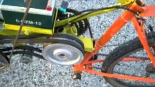 getlinkyoutube.com-mezzo artigianale con motosega ( su base della bici motosega gp40 )