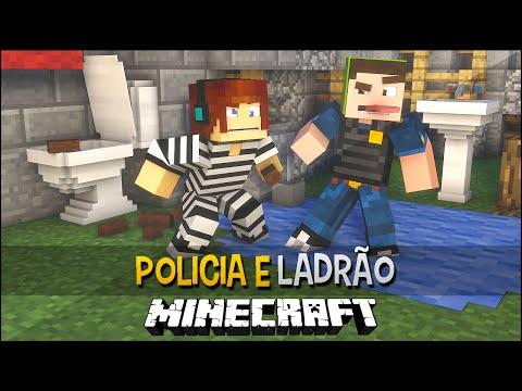 Policia e Ladrão - Cadeia do Cocô !! - Minecraft