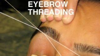 getlinkyoutube.com-DIY: Perfect Eyebrow Threading at Home | Simple & Easy Tutorial
