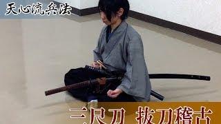 古武術 天心流兵法 八之動画 ~三尺刀抜刀~ Tenshinryu hyouho PV #8 nodachi