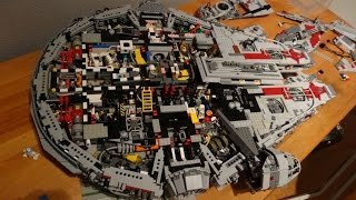 getlinkyoutube.com-LEGO UCS Episode VII - Millenium Falcon 2015 - with interior - 10.000+ parts (MOD)