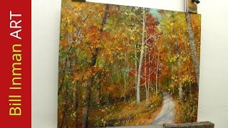 getlinkyoutube.com-How to Paint Trees with Fall Leaves - 'Early One Morning' Oil Painting by Bill Inman