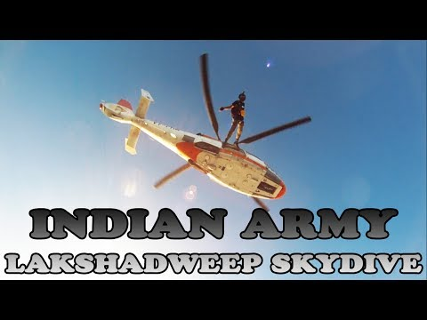 Indian Army Skydive over Lakshadweep | GoPro