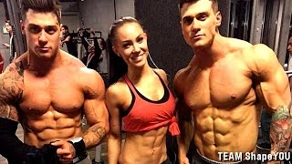 getlinkyoutube.com-Shoulder Workout by Harrison Twins and Stephanie Davis - TEAM ShapeYOU