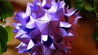 getlinkyoutube.com-Origami ✿ Sudden Flame ✿ Kusudama