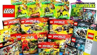 getlinkyoutube.com-LEGO NINJAGO & Ultra Agents Collection Teenage Mutant Ninja Turtles Toy Haul