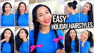 getlinkyoutube.com-Easy Heatless Hairstyles for the Holidays + Holiday Curls Tutorial!