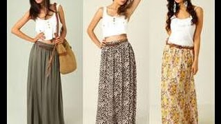 getlinkyoutube.com-how to make a maxi skirt in 5min easy for beginners sewing