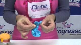 getlinkyoutube.com-Fitas Progresso - Flores com Fitas - Clube de Artesanato