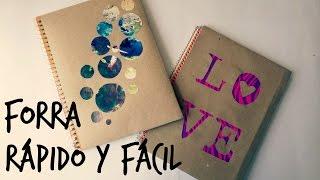 getlinkyoutube.com-¡Forra tus cuadernos rápido y sencillo! - Blooudland :)