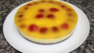 getlinkyoutube.com-كيكة الطباقات باردة بالفواكه cake layered with fruit