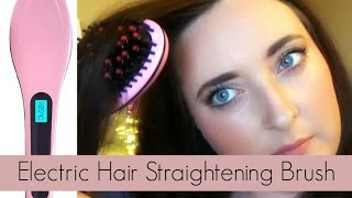 getlinkyoutube.com-Beautiful Star Electric Hair Straightening Brush | Confetti & Curves