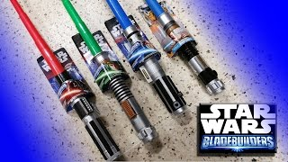 getlinkyoutube.com-Star Wars Basic Lightsaber Bladebuilders Review Luke Skywalker Anakin Darth Vader obi wan kenobi Rey