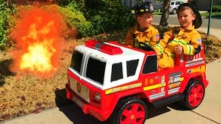 getlinkyoutube.com-Fire Engine For Kids (Ride On) - Unboxing, Review, Pretend Rescue