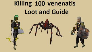 getlinkyoutube.com-Guide and loot from 100 Venenatis -Duo Ranged-